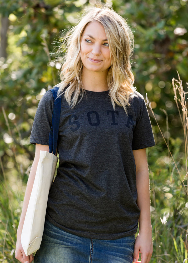 Inherit Co.  | Women's New Arrivals | Sota' Gray Porter Tee