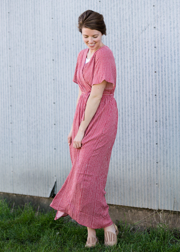Inherit Co.  | Women's Modest Dresses | Short Sleeve Wrap Maxi Dress
