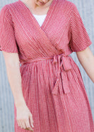 Short Sleeve Wrap Maxi Dress - FINAL SALE