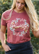 Thankful Floral Vintage Graphic Tee - FINAL SALE
