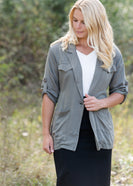 Belted Olive Cargo Jacket - FINAL SALE