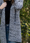 Tri-Tone Textured Open Cardigan - FINAL SALE