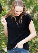 Simple Black Boxy Tee - FINAL SALE