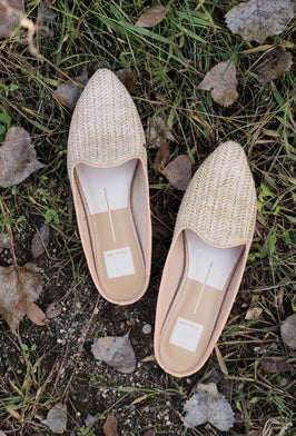 Dolce Vita - Natural Raffia Slide Shoe - FINAL SALE