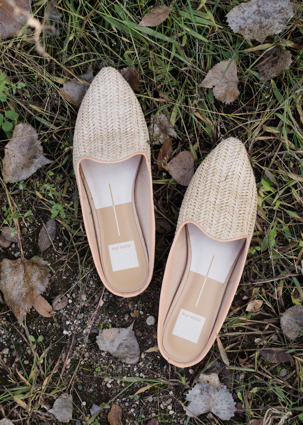 Inherit Co.  | Shoes | Dolce Vita - Natural Raffia Slide Shoe - FINAL SALE