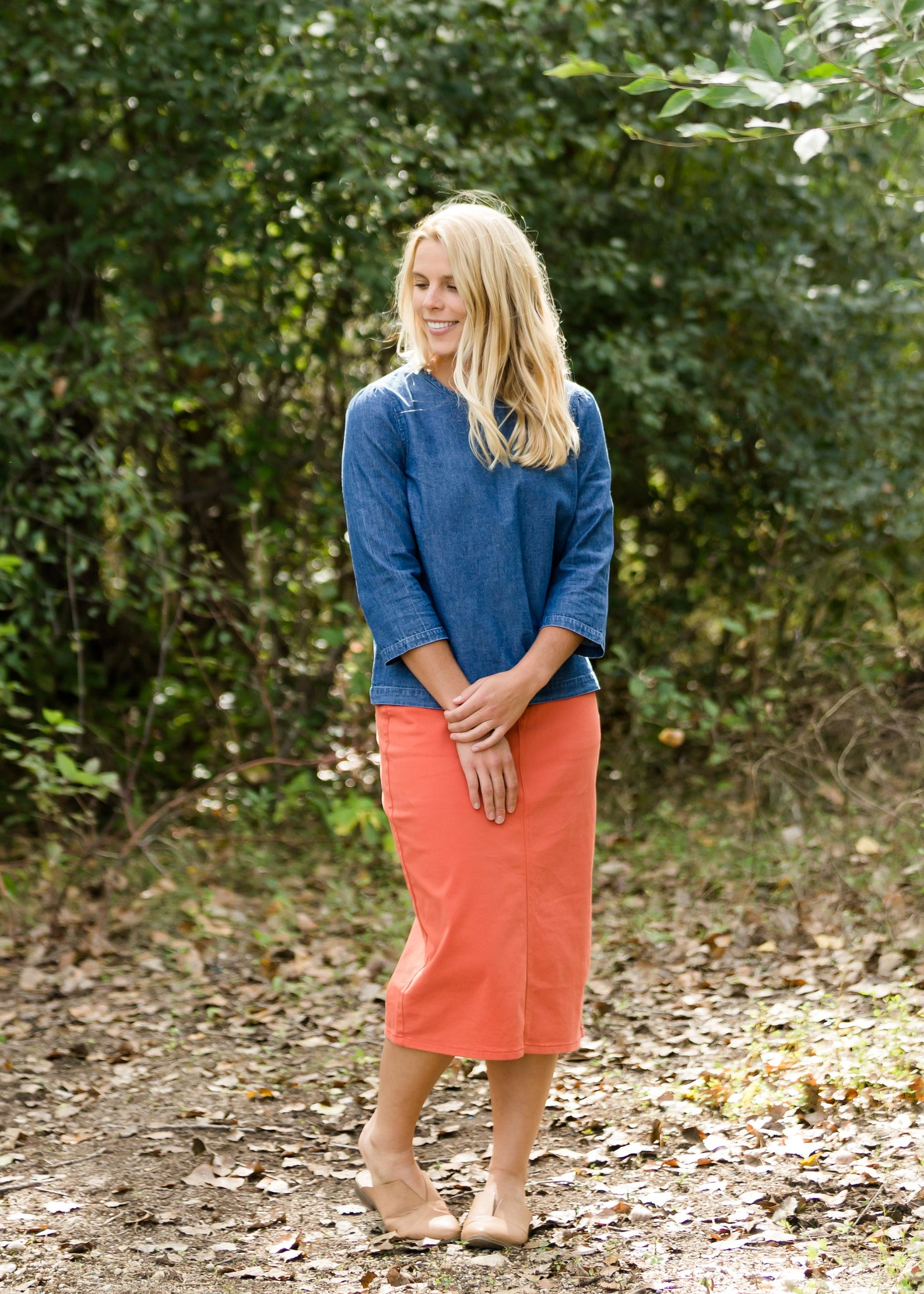 Remi Burnt Orange Midi Skirt - FINAL SALE