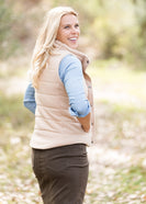 French Terry Padded Puffer Vest - FINAL SALE