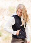 Quilted Contrast Puffer Vest - FINAL SALE