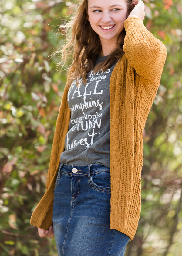 Inherit Co.  | Modest Women's Tops | Hayrides + Leaves Graphic Tee - FINAL SALE