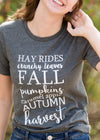Hayrides + Leaves Graphic Tee - FINAL SALE