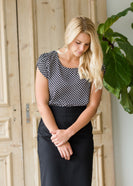 Diamond Detail Ruffle Sleeve Top - FINAL SALE