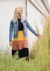 Color Block Tiered Midi Skirt - FINAL SALE