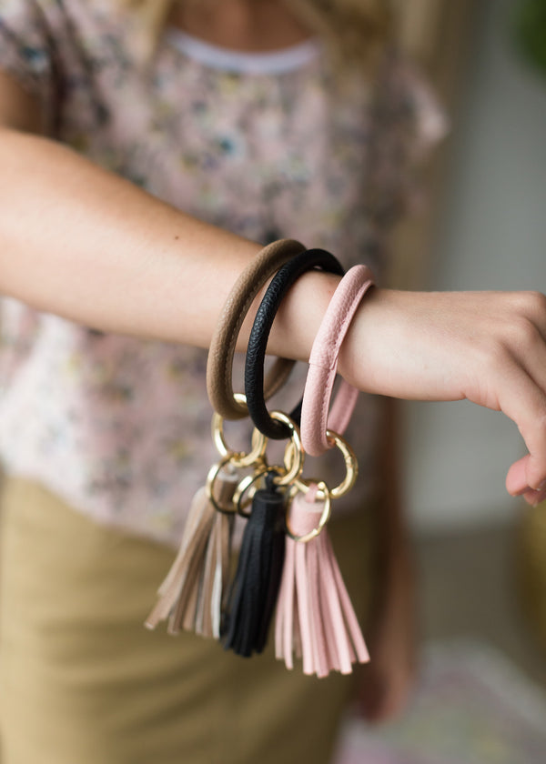 Inherit Co.  | Women's Accessories | Leather Wrist Key Ring