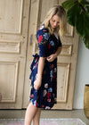 Floral Side Tie Midi Dress - FINAL SALE