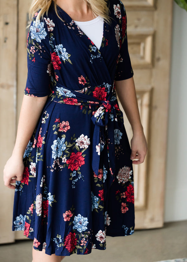 Inherit Co.  | Floral Side Tie Midi Dress