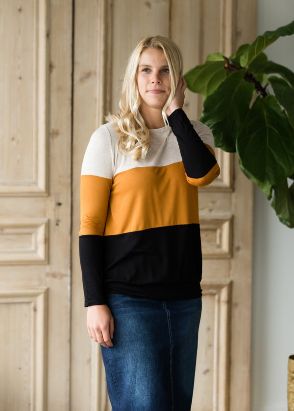 Inherit Co.  | Tiered Color Block Top