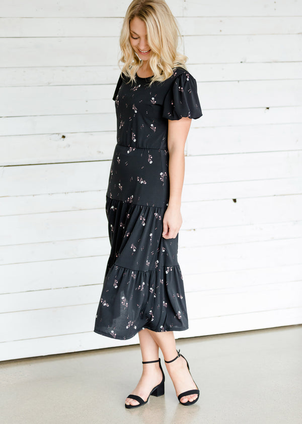 Inherit Co.  | Women's Modest Dresses | Detailed Sleeve Tiered Midi Dress