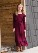 Inherit Co.  | Modest Women's Best Sellers | Ruffle Mix Midi Dress