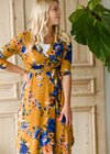 Floral Fit Wrap Midi Dress - FINAL SALE
