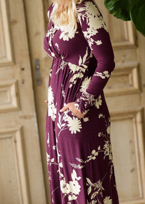 Inherit Co.  | Women's Modest Dresses | Floral Long Sleeve Maxi Dress
