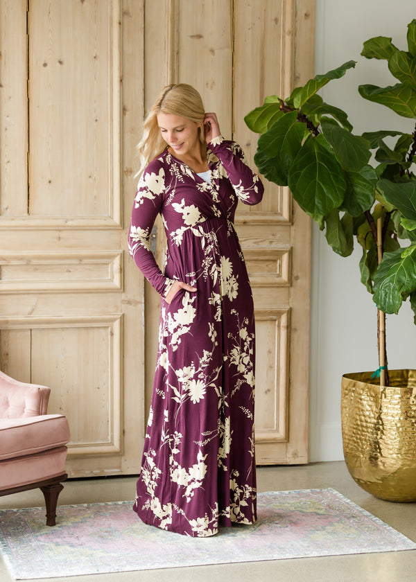 Inherit Co.  | Modest Women's Maternity | Floral Long Sleeve Maxi Dress