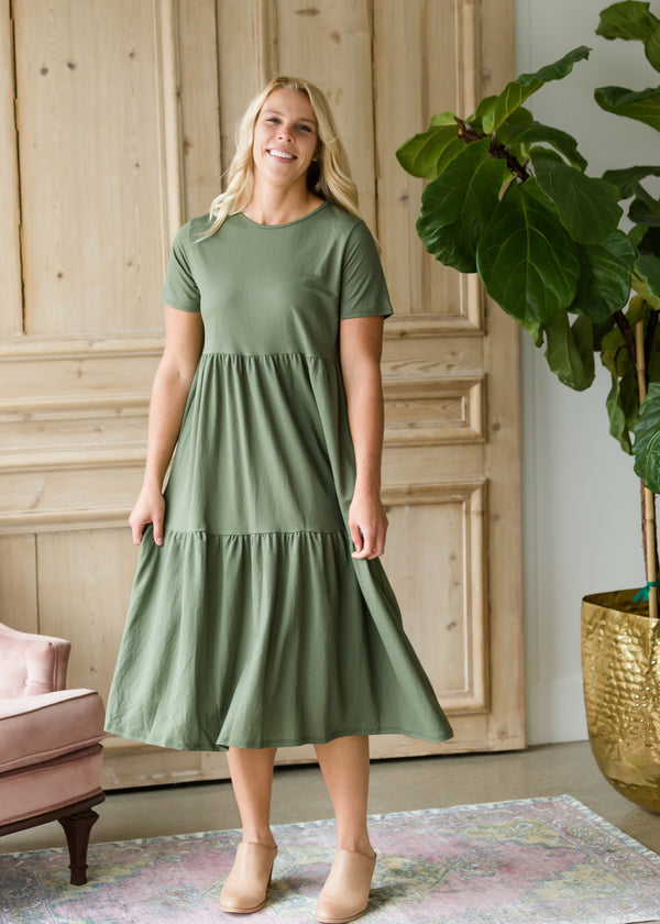 Inherit Co.  | Women's Modest Dresses | Tiered Autumn Midi Dress