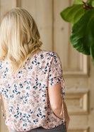 Inherit Co.  | Modest Women's Tops | Floral Print Tie Sleeve Top