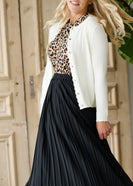 Soft Scalloped Hem Cardigan - FINAL SALE