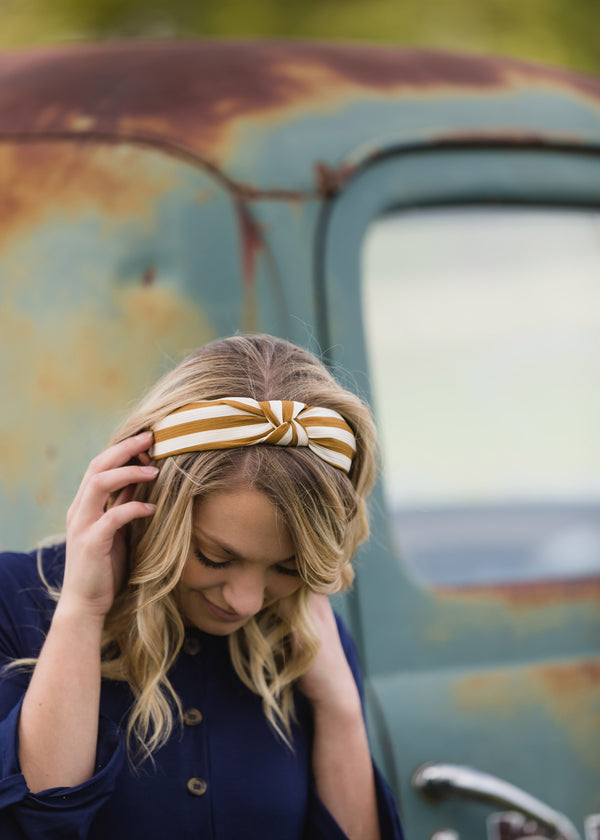 Inherit Co.  | Women's Accessories | Striped Knotted Head Band - FINAL SALE