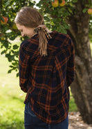 Brown Plaid Hair Scrunchie - FINAL SALE