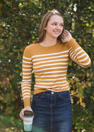 Striped Knit Pullover Sweater - FINAL SALE