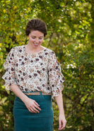 Floral Ruffle Bell Sleeve Top - FINAL SALE