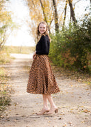 Leopard Print Flowy Midi Skirt - FINAL SALE