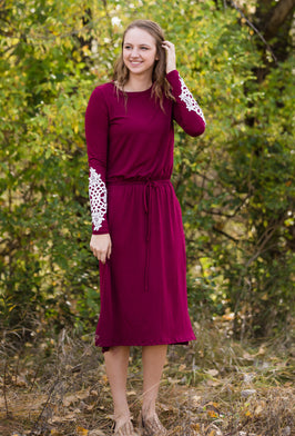 Inherit Co.  | Modest Women's Best Sellers | Floralscape Midi Dress-FINAL SALE |