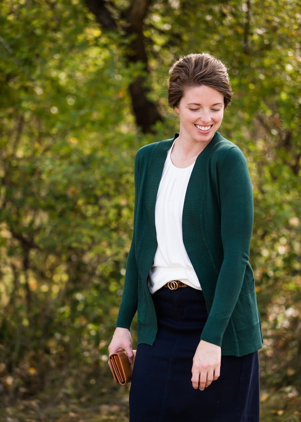 Inherit Co.  | Modest Women's Tops | Knit Open Front Cardigan - FINAL SALE