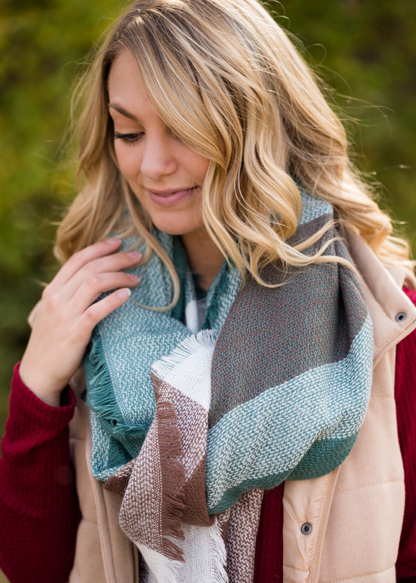 Inherit Co.  | Women's Accessories | Plaid Fringe Blanket Scarf
