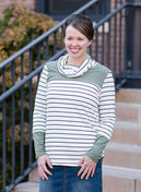 Color Block Pocket Top