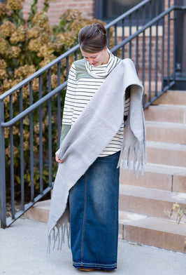 Inherit Co.  | Modest Women's Best Sellers | Color Block Stripe Top - FINAL SALE |