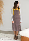 Retro Corduroy Midi Jumper Dress - FINAL SALE