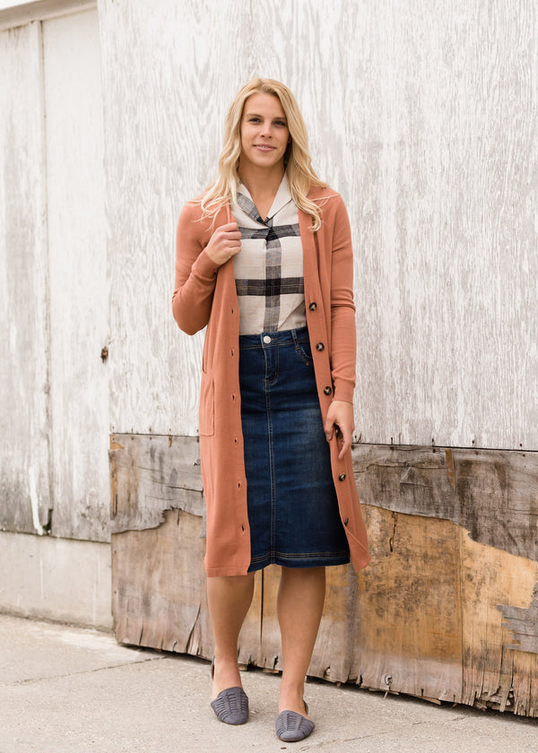 Inherit Co.  | Modest Women's Layering Essentials | Double Pocket Open Front Cardigan