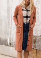 Double Pocket Open Front Cardigan - FINAL SALE