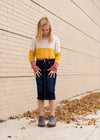 Color Block Knot Front Top - FINAL SALE