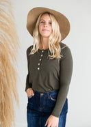 Inherit Co.  | Modest Women's Tops | Long Sleeve Shell Button Top