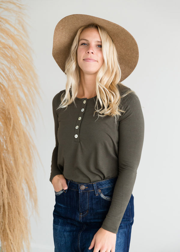 Inherit Co.  | Modest Women's Tops | Long Sleeve Shell Button Top - FINAL SALE