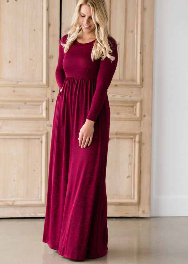 Inherit Co.  | Women's Modest Dresses | High Waist Solid Maxi Dress