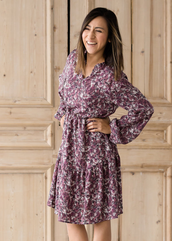 Inherit Co.  | Women's Modest Dresses | Vintage Floral Garden Midi Dress - FINAL SALE