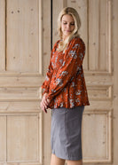Rusty Ruffle Bottom Tunic - FINAL SALE