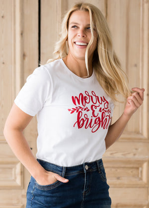 Merry & Bright Christmas Graphic Tee