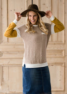 Neutral Knit Top With Pocket - FINAL SALE