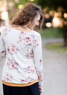 Gold Band Floral Sweatshirt